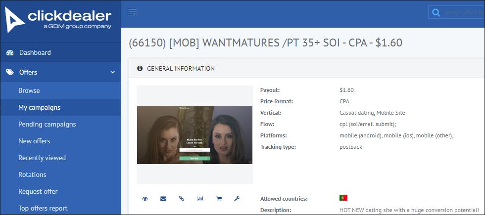ClickDealer interface